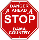 University of Alabama Stop Sign Wall Sign