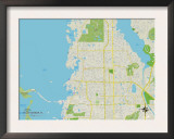 Political Map of Palm Harbor, FL Posters