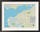 Political Map of Punta Gorda, FL Poster