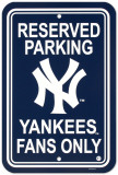 New York Yankees Parking Sign Wall Sign