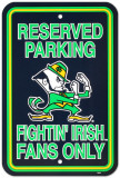 University of Notre Dame Parking Sign Vægskilt