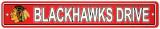 Chicago Blackhawks Street Sign Veggskilt