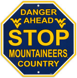 University of West Virgina Stop Sign Wall Sign