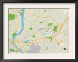 Political Map of East Hartford, CT Prints