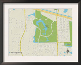 Political Map of Pine Island Ridge, FL Prints
