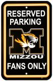 University of Missouri Parking Sign Vægskilt