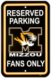 University of Missouri Parking Sign Wall Sign