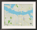 Political Map of Bradenton, FL Poster