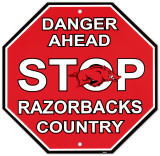 University of Arkansas Stop Sign Wall Sign