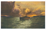 Sunset on the Columbia No. 54 Posters