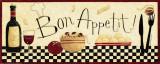 Gedekte tafel met daarbij tekst: Bon Appetit Kunst van Dan Dipaolo
