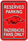 University of Arkansas Parking Sign Wall Sign