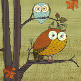 Awesome Owls I Posters van Paul Brent