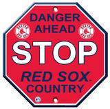Boston Red Sox Stop Sign Wall Sign