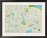 Political Map of Casselberry, FL Poster