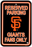 San Francisco Giants Parking Sign Wall Sign