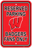 University of Wisconsin Parking Sign Vægskilt