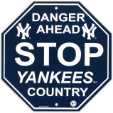 New York Yankees Stop Sign Wall Sign