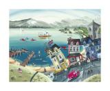 Miss Daisy's Lakeshore Guest Houst Affiches par Anne Blundell