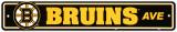 Boston Bruins Street Sign Vægskilt
