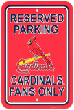 St. Louis Cardinals Parking Sign Wall Sign