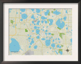 Political Map of Winter Haven, FL Print