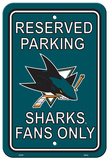NHL San Jose Sharks Parking Sign Wall Sign