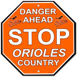 Baltimore Orioles Stop Sign Wall Sign