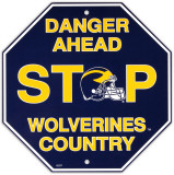 University of Michigan Stop Sign Wall Sign
