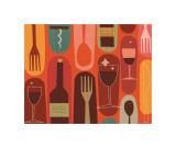 Wine & Dine Giclee Print by Jenn Ski