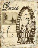 Paris Collage III Posters by Gregory Gorham