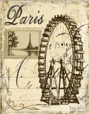 Paris Collage III 高品質プリント : グレゴリー・ゴーラム