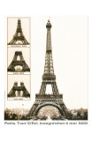 Tour Eiffel Inauguration 1889 Poster