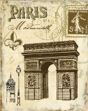 Paris Collage II Prints by Gregory Gorham