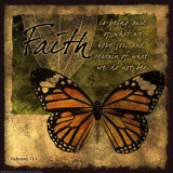 Butterfly SentimentsFaith Poster