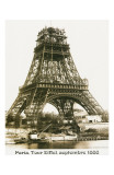 Tour Eiffel September 1888 Yellow Screen Prints