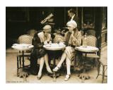 Terasse De Cafe 1924 Poster