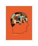 Head Chart Giclee Print by Jenn Ski