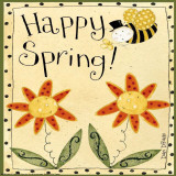 Spring Bumble Bee Print by Dan Dipaolo