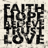 Marble Faith Hope Poster van Carole Stevens