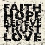 Carole Stevens - Marble Faith Hope - Poster