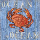 Coastal USA Red Crab Kunst af Paul Brent