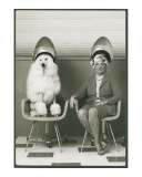 Coneheads Lady and Poodle in Dryers, France Print