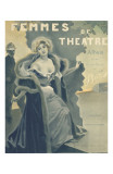 Femmes de Theatre Cover Photoshop'd Poster by F. Bac