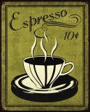 Retro Coffee II Poster by N. Harbick