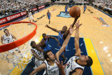 Oklahoma City Thunder v Memphis Grizzlies - Game Four, Memphis, TN - MAY 9: Nazr Mohhamed, Hamed Ha Photographic Print by Joe Murphy