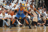 Oklahoma City Thunder v Memphis Grizzlies - Game Four, Memphis, TN - MAY 9: Russell Westbrook and M Photographic Print by Joe Murphy