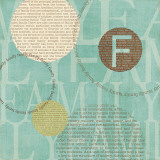 Circle of Words - Family Print by Veronique Charron