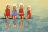Swimteam no. 9 Affiches par Rebecca Kinkead
