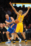 Dallas Mavericks v Los Angeles Lakers - Game One, Los Angeles, CA - MAY 2: Jason Kidd and Derek Fis Photographic Print by Noah Graham
